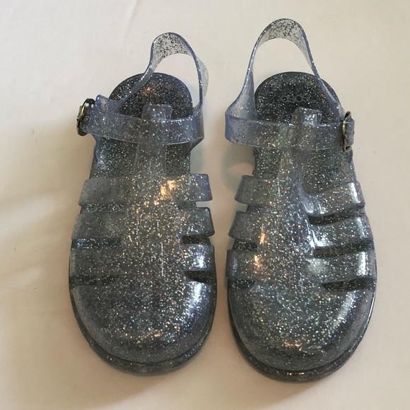 ASOS Shoes | Euc Sparkly Silver Jelly